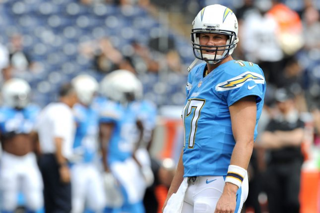 San Diego Chargers quarterback Philip Rivers. Photo by Jon SooHoo/UPI