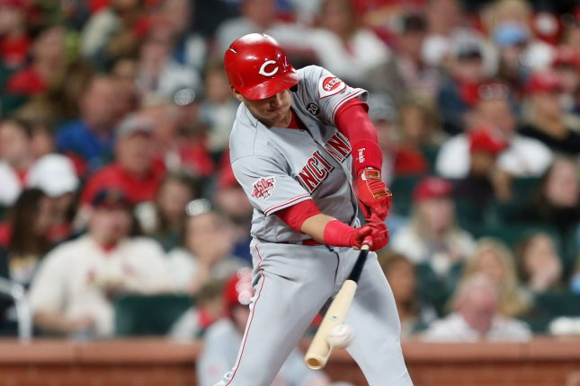 Cincinnati Reds shortstop Jose Iglesias set career highs with 11 home runs and 59 RBIs last season. File Photo by Bill Greenblatt/UPI
