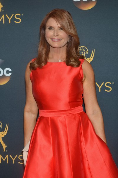 Roma Downey arrives for the 68th annual Primetime Emmy Awards at Microsoft Theater in Los Angeles on September 18, 2016. The actor turns 60 on May 6. File Photo by Christine Chew/UPI
