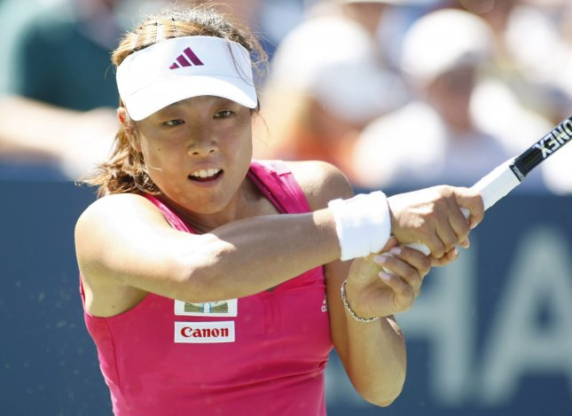 Ayumi Morita, shown during the 2010 U.S. Open, advanced to the quarterfinals of the BMW Malaysian Open with a straight-set win Wednesday. UPI Photo/Monika Graff.