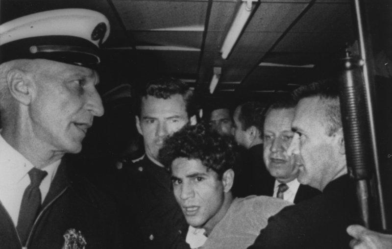Sirhan Bashira Sirhan is taken into custody following the shooting of Sen. Robert Kennedy on June 5, 1968 in Los Angeles. (UPI Photo/Ron Bennett/Files)