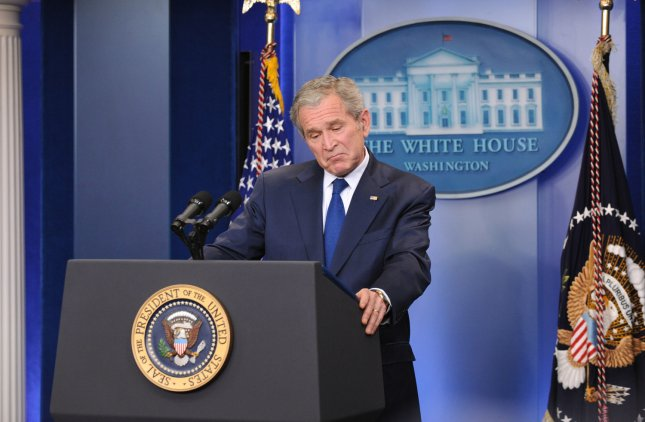 President George W. Bush delivers remarks during a press conference at the White House in Washington on January 12, 2009. Bush spoke on a number of issues including the incoming Obama administration, mistakes of his Presidency and his plans after the White House. (UPI Photo/Kevin Dietsch)