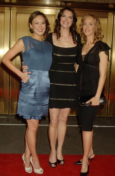 Actresses Lindsay Price, Brooke Shields, Kim Raver (left to right) pose for the NBC-tv upfront promotionals for their tv series Lipstick Jungle on May 14, 2007 at New York's Radio City Music Hall. (UPI Photo/Ezio Petersen)