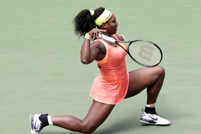 Serena Williams at the US Open Tennis Championships at the USTA Billie Jean King National Tennis Center in New York City on September 11, 2015. Photo by John Angelillo/UPI