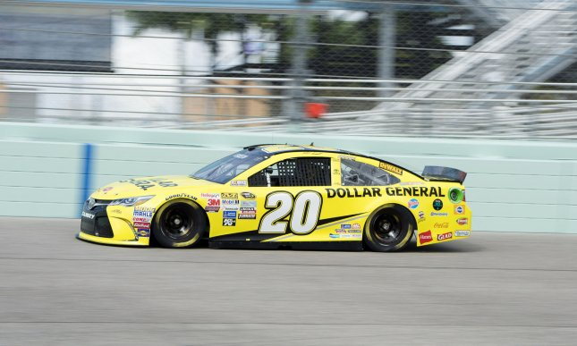 Matt Kenseth conducts a practice session at the Homestead-Miami Speedway. Photo by Joe Marino-Bill Cantrell/UPI