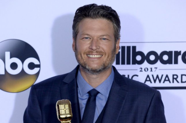 Blake Shelton reacted on Thursday's episode of The Ellen DeGeneres Show to being named People's Sexiest Man Alive. File Photo by Jim Ruymen/UPI