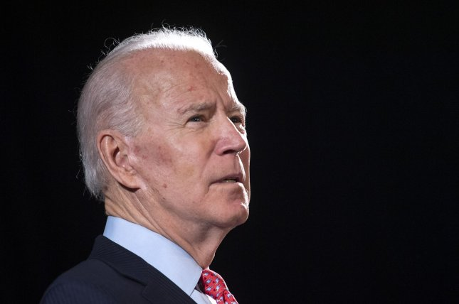 Former Vice President Joe Biden will become the official Democratic presidential nominee, projections showed Saturday. Photo by Kevin Dietsch/UPI