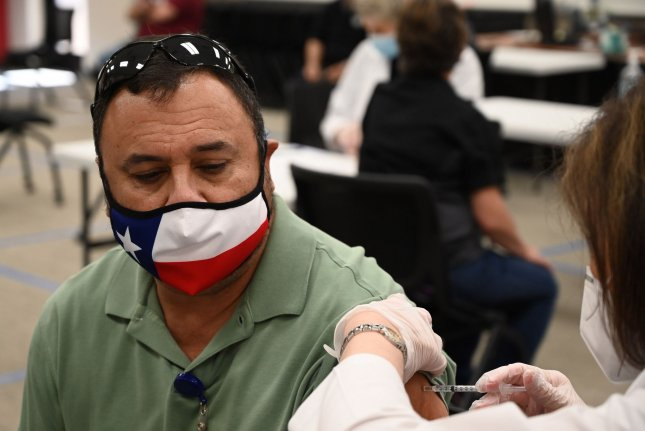 Texas Gov. Greg Abbott banned the use of vaccine passports through executive order on Tuesday. Photo by Ian Halperin/UPI