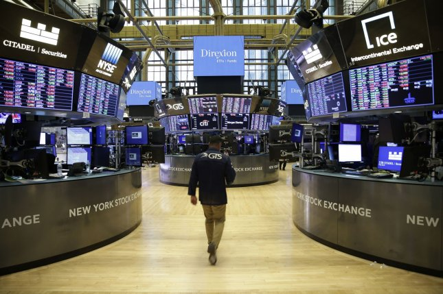 The Dow Jones Industrial Average gained more than 500 points on Thursday as all three major indexes rose into positive territory for the week. File Photo by John Angelillo/UPI