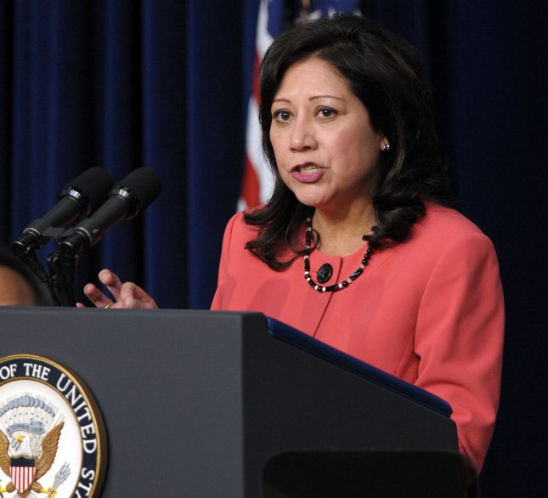 U.S. Secretary of Labor Hilda Solis. UPI/Roger L. Wollenberg