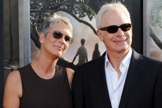 Actress Jamie Lee Curtis and her husband, Mascots filmmaker Christopher Guest, attend the premiere of the motion picture dramatic romantic comedy Flipped in Los Angeles on July 26, 2010. File Photo by Jim Ruymen/UPI