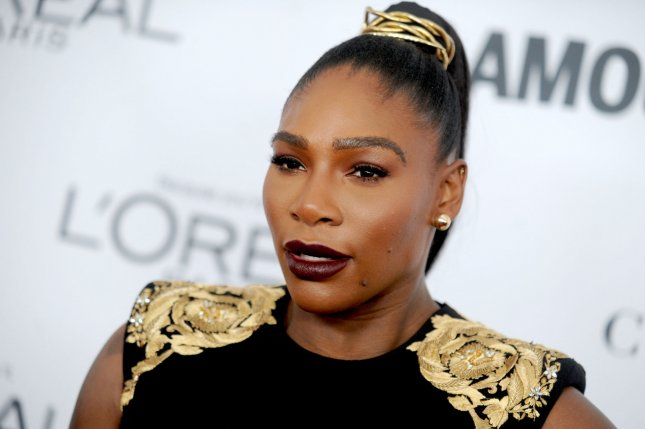 Serena Williams arrives on the red carpet at Glamour's 2017 Women of The Year Awards on November 13 at Kings Theatre in New York City. File Photo by Dennis Van Tine/UPI