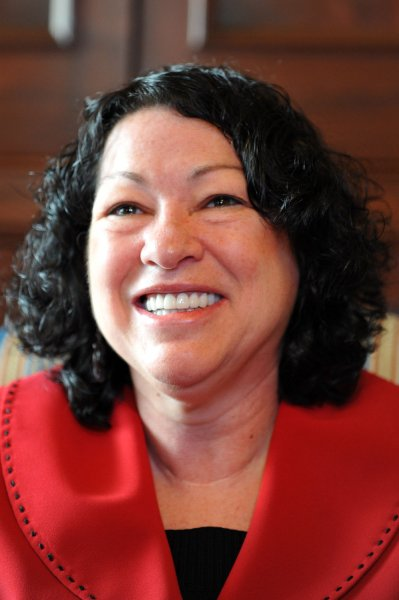 Supreme Court nominee Sonia Sotomayor is seen in a meeting with Sen. Michael Bennet (D-CO) in Washington on June 9, 2009. (UPI Photo/Kevin Dietsch)