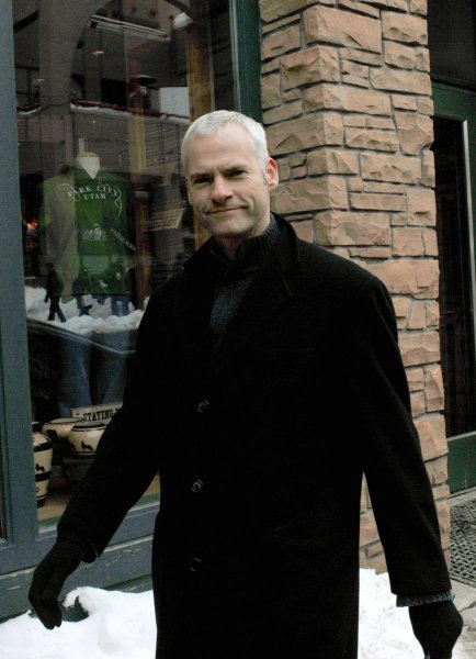 Director and Screenwriter Martin McDonagh walks down Main Street during the Sundance Film Festival in Park City, Utah on January 19, 2008. McDonagh's film In Bruges premiered at this year's festival. (UPI Photo/Alexis C. Glenn)
