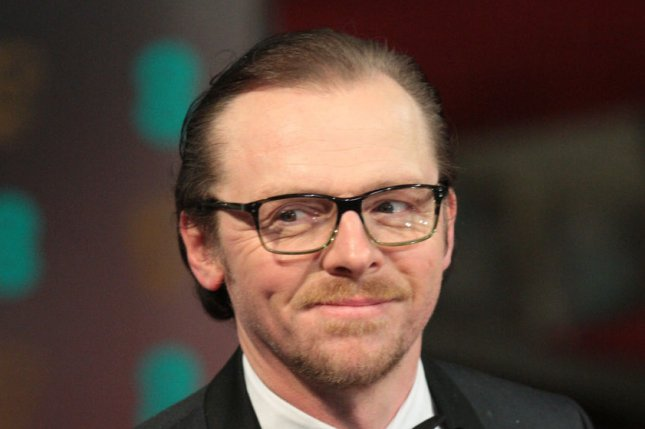 Simon Pegg will co-write 'Star Trek 3.' Photo by Hugo Philpott/UPI
