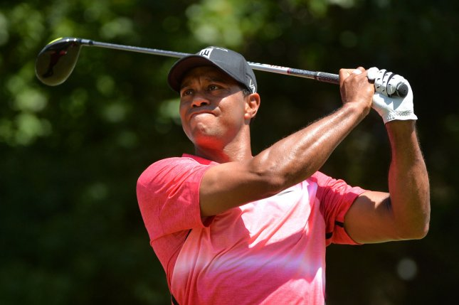 Tiger Woods. Photo by Kevin Dietsch/UPI