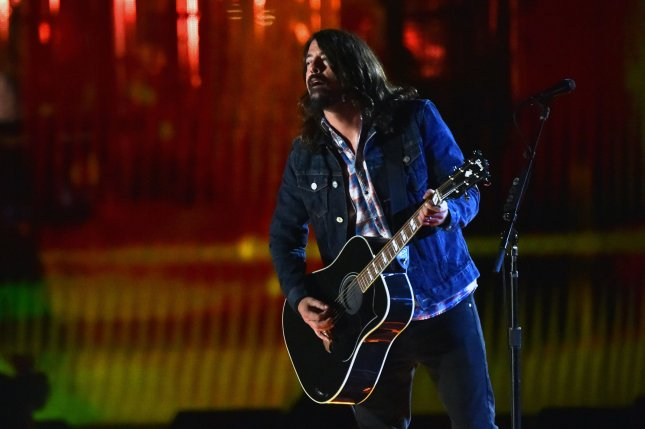 David Grohl performs during the Concert for Valor on the National Mall on Veteran's Day, Nov. 11, 2014, in Washington, D.C. Photo by Kevin Dietsch/UPI