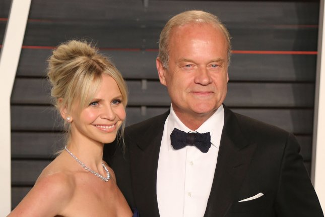 Kayte Grammer and Kelsey Grammer attend the 2016 Vanity Fair Oscar Party at the Wallis Annenberg Center for the Performing Arts in Beverly Hills on February 28. Kelsey Grammer's new series Trollhunters is to premiere on Friday. File Photo by David Silpa/UPI