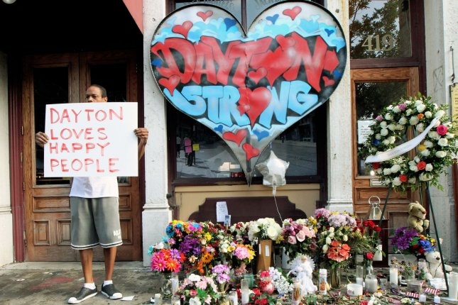 A friend of the gunman in a shooting that killed nine people in Dayton, Ohio on Aug. 4, bought equipment for him and hid it at his home. Photo by John Sommers II/UPI