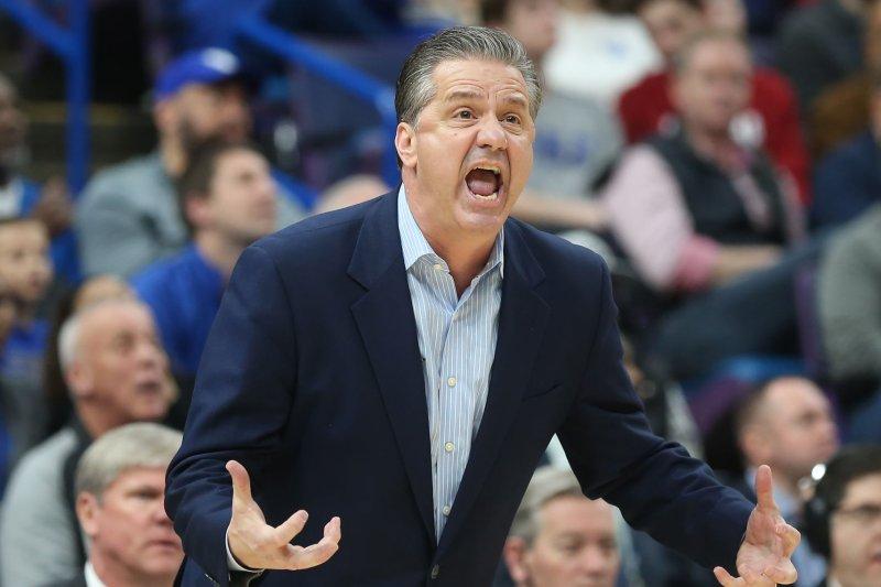 Kentucky's John Calipari has led the Wildcats to the NCAA Men's Basketball Tournament in nine of his previous 10 seasons. File Photo by BIll Greenblatt/UPI