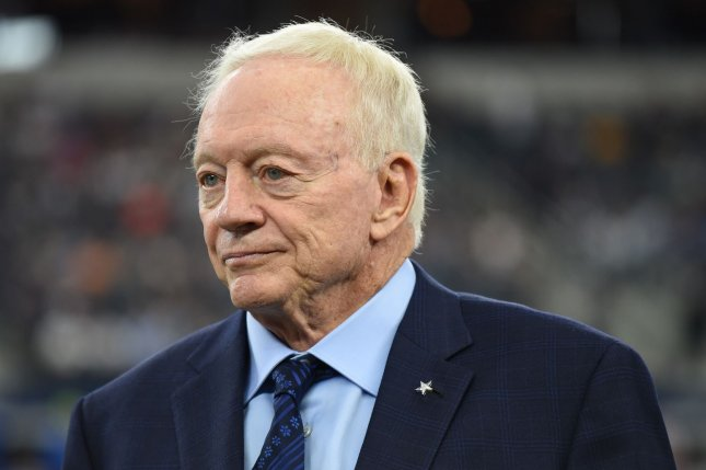 Dallas Cowboys owner Jerry Jones cited the injury issues and turnovers when he discussed the team's struggles so far in 2020. File Photo by Ian Halperin/UPI