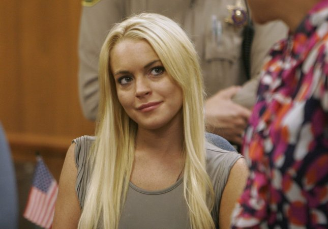 Actress Lindsay Lohan surrenders in court to begin serving a 90-day jail term for violation of probation in Beverly Hills, California on July 20, 2010. UPI/Al Seib/Pool