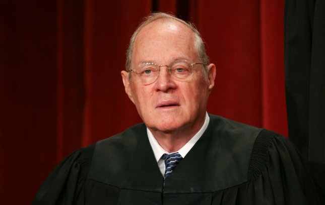 Anthony Kennedy is seen after the Supreme Court Justices of the United States posed for their official family group photo. UPI/Gary Fabiano/POOL