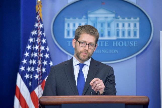 White House Press Secretary Jay Carney speaks during the daily press briefing at the White House in Washington, D.C. on January 13, 2014. UPI/Kevin Dietsch