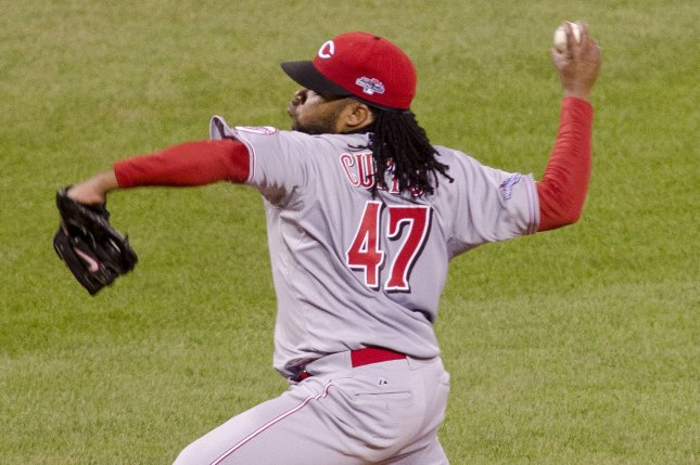 Cincinnati Reds Pitcher Johnny Cueto starts against the Pittsburgh Pirates at PNC Park in Pittsburgh on October 1, 2013. The Pirates went on to win their first playoff game since 1992 with the score of 6-2. UPI/Archie Carpenter