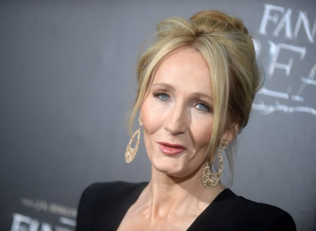 Author J. K. Rowling arrives on the red carpet at the Fantastic Beasts and Where to Find Them world premiere on November 10 in New York City. Harry Potter and the Cursed Child is the best-selling book of 2016. Photo by Dennis Van Tine/UPI
