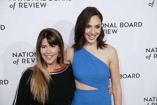 Director Patty Jenkins (L) and actress Gal Gadot have started work on their superheroine movie Wonder Woman 1984. File Photo by John Angelillo/UPI
