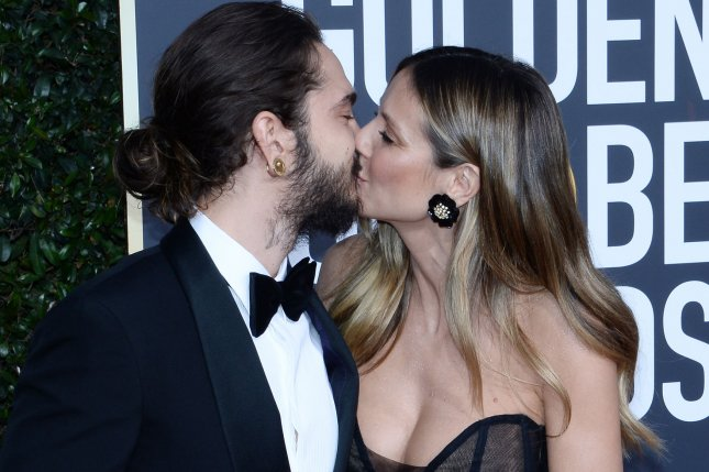 Musician Tom Kaulitz and model Heidi Klum, seen here at the 76th annual Golden Globe Awards on January 6, exchanged wedding vows in Capri, Italy, this weekend. File Photo by Jim Ruymen/UPI