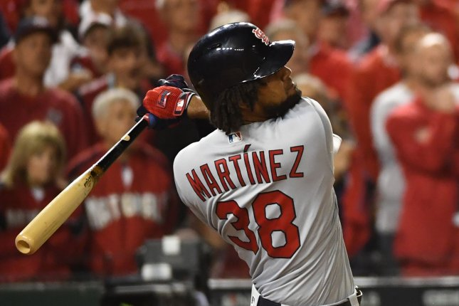 St. Louis Cardinals outfielder Jose Martinez had 10 home runs and 42 RBIs last season. File Photo by Kevin Dietsch/UPI