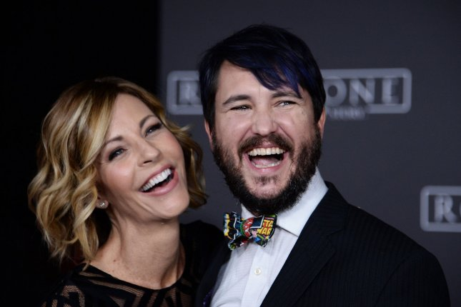 Rival Peak star Wil Wheaton and his wife, Anne Wheaton, attend the premiere of Rogue One: A Star Wars Story on December 2016. Rival Peak is coming to Facebook on Wednesday. File Photo by Jim Ruymen/UPI