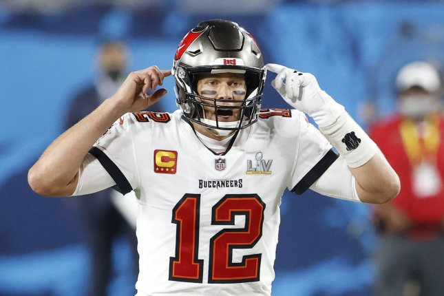 Tampa Bay Buccaneers quarterback Tom Brady believes the new NFL uniform number rule will cause issues for offenses around the league. File Photo by John Angelillo/UPI
