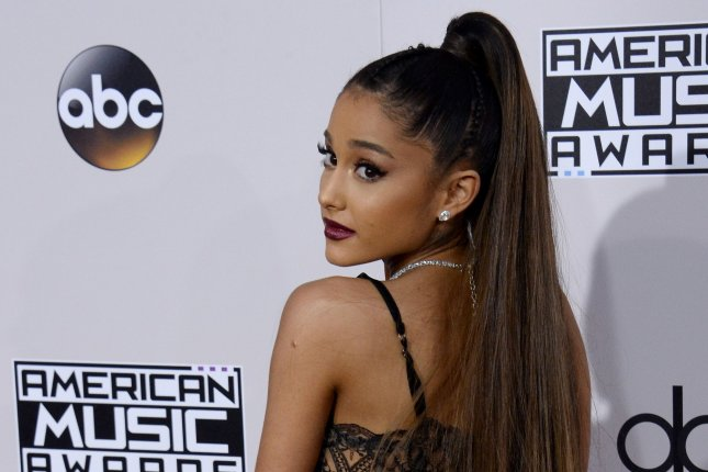 Ariana Grande at the American Music Awards on November 20, 2016. File Photo by Jim Ruymen/UPI