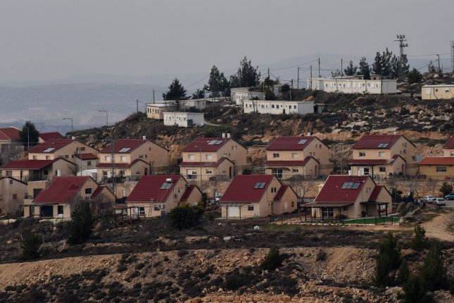 This is an overview of homes in the Jewish settlement Eli in the West Bank on February 1, 2016. Eli at one time was among the Israeli settlements offering rooms for rent to tourists on Airbnb until the company changed its policy Monday. File Photo by Debbie Hill/UPI
