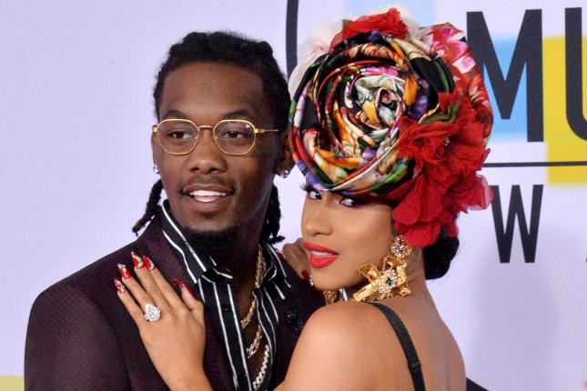 Offset (L), pictured with Cardi B, tweeted about the rapper following their separation after 14 months of marriage. File Photo by Jim Ruymen/UPI