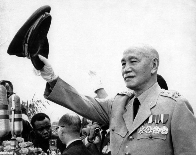 Chiang Kai-shek, President of Nationalist China, is seen here 10/31/1970 is seen here at a mass rally celebrating the 59th anniversary of Nationalist China's founding.