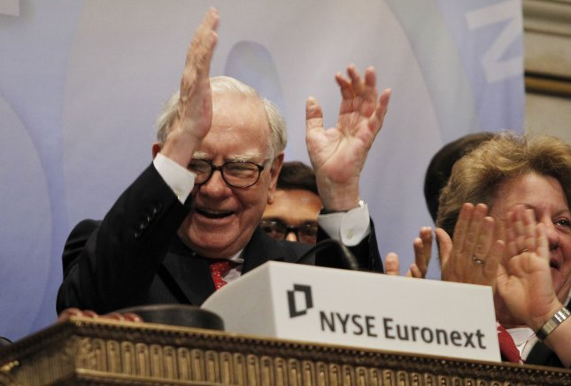 Berkshire Hathaway Chairman Warren E. Buffett rings the opening bell at the New York Stock Exchange after the opening bell on Wall Street In New York, Sept. 30, 2011. UPI/John Angelillo