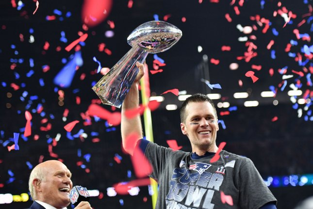New England Patriots and quarterback Tom Brady have just reloaded for another strong run at a Super Bowl victory. File photo by Kevin Dietsch/UPI