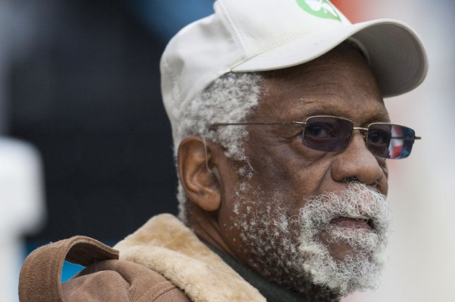 Basketball legend Bill Russell watches the Seattle Seahawks during warmups at CenturyLink Field in Seattle, Wash. File photo by Jim Bryant/UPI