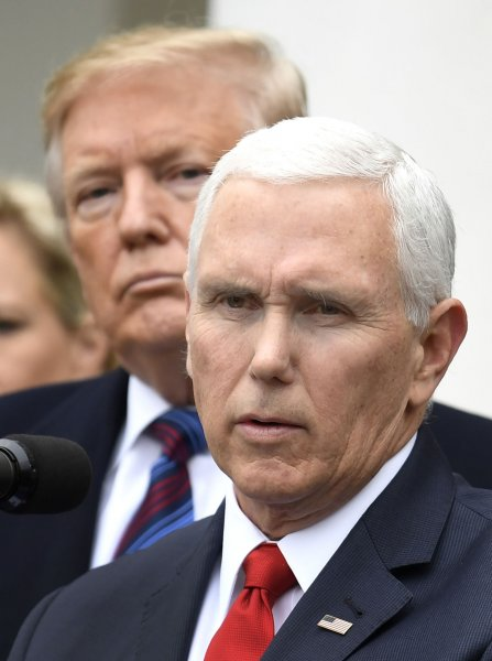 Vice President Mike Pence told reporters Friday he would not accept his planned pay raise. File Photo by Mike Theiler/UPI