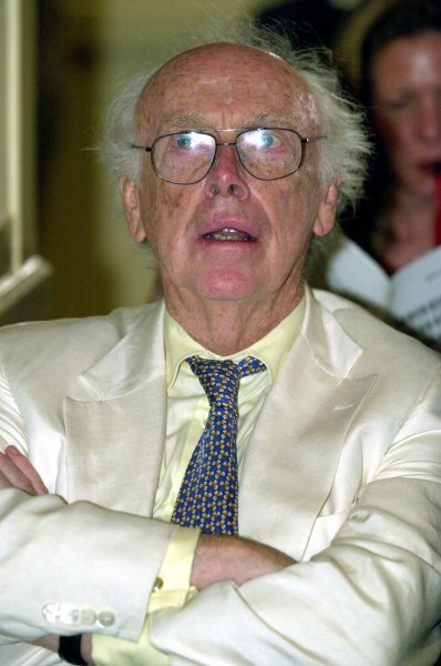 James Watson attends a press conference June 26, 2000, in Washington, D.C. His recent comments on race earned him a censure from the Cold Spring Harbor Laboratory in New York. File Photo by Joel Rennich/UPI