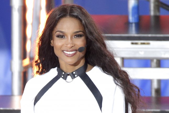 Ciara celebrated after taking the four-day Business of Entertainment, Media and Sports class at Harvard Business School. File Photo by John Angelillo/UPI