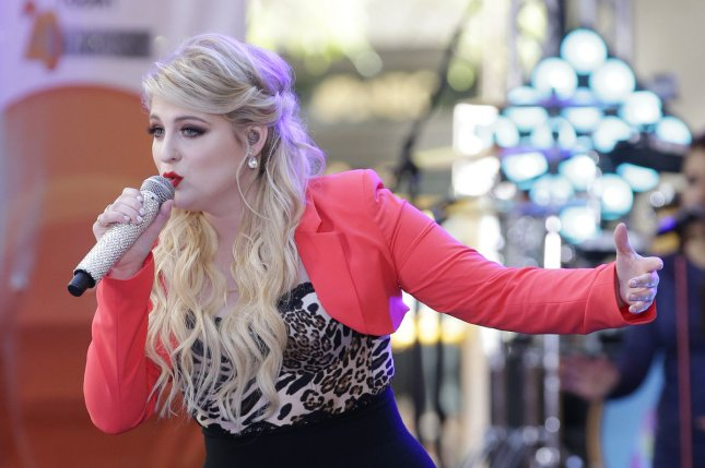 Meghan Trainor performs on the NBC Today Show at Rockefeller Center in New York City on May 22, 2015. The singer co-wrote her hit All About the Bass with Kevin Kadine, who only made roughly $31 per million Spotify streams of the song. File Photo by John Angelillo/UPI