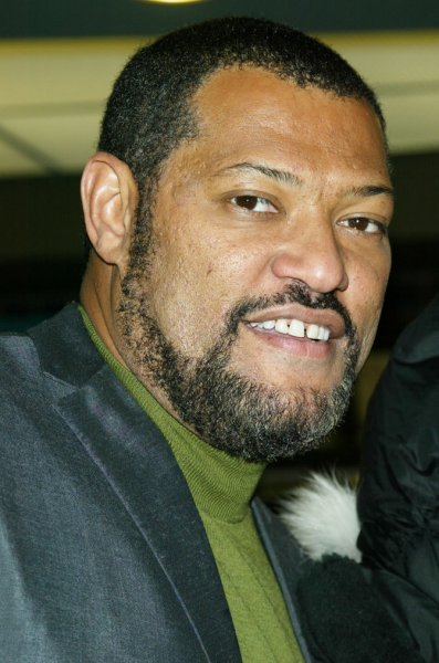 Laurence Fishburne arrives at the premiere of Assault on Precinct 13 at the Clearview Chelsea West Cinema in New York on January 18, 2005. (UPI Photo/Laura Cavanaugh)