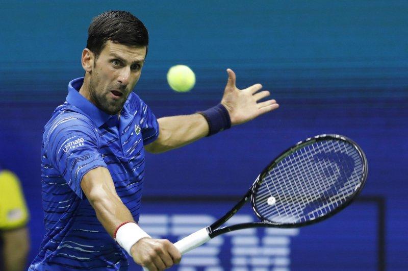 Novak Djokovic, a three-time U.S. Open champion, plays No. 20 seed Pablo Carreno Busta in the next round. File Photo by John Angelillo/UPI
