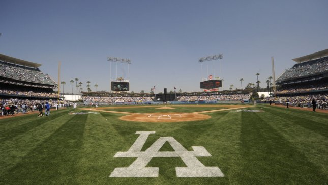 The Los Angeles Dodgers prepare to play the Pittsburgh Pirates on opening day as they celebrate the 50th Anniversary of Dodger Stadium in Los Angeles on April 10, 2012. UPI Photo/ Phil McCarten