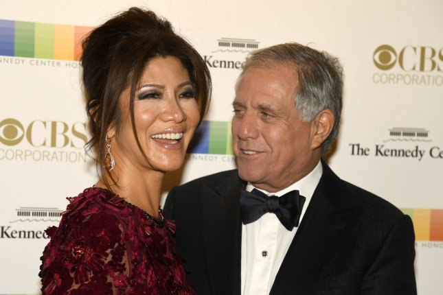 Julie Chen (L) and Leslie Moonves at the Kennedy Center Honors ceremony on December 4. File Photo by Mike Theiler/UPI
